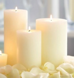 piller candles for weddings