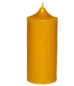 Solid beeswax pillar candle