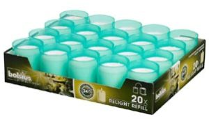turquoise refill candles