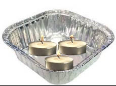T light floating foil container