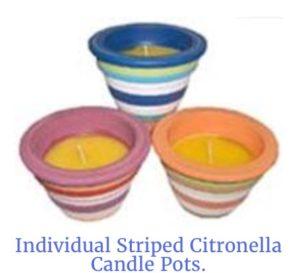 Citronella Candle Pots