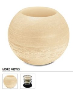 round wax lantern lg
